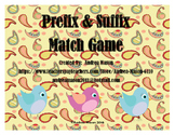 Prefix & Suffix Match Game - Activity