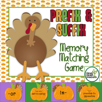 Prefix & Suffix Memory Match Center Game