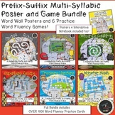 Prefix-Suffix Multisyllabic Poster and Game GROWING Bundle