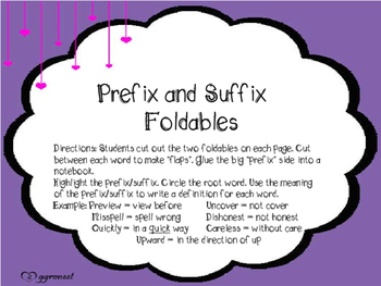Prefix Suffix Pack