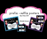 Prefix & Suffix Posters with Root Word
