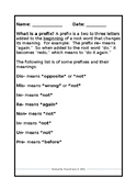 Prefix/Suffix Practice