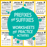 Prefix & Suffix Activities & Worksheets + 4 Types of Sentences Writing Practice
