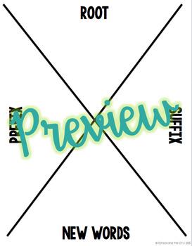Prefix / Suffix / Root Craftivity