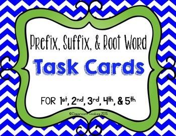 Prefix, Suffix, & Root Word Scoot For Grades 1, 2, 3, 4, & 5
