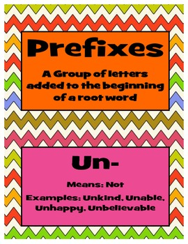 Prefix, Suffix, Root Word, and Multi-Syllable Word {Posters and Activities}