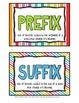 Prefix & Suffix {Teach, Display, & Practice}
