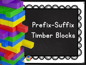 Prefix-Suffix Timber Blocks (Jenga Based OR Board Based Game)