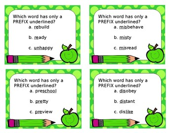 Prefix, Suffix and Base/Root Word Practice for I-READ