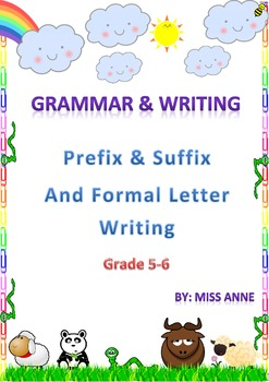 Prefix & Suffix and Formal Letter Writing with Fun Board Game for Grade 5-6