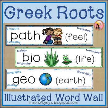 Prefix Suffix and Greek and Latin Roots Word Wall Bundle - 4 in 1