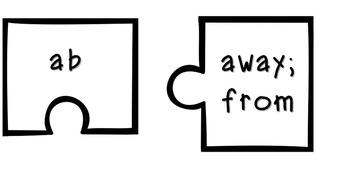 Prefix, Suffix, and Root Puzzle Bundle