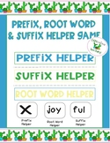 Prefix, Suffix, and Root Word Game