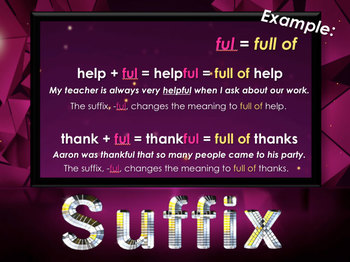 Prefix Suffix and Root Word PowerPoint Practice Prefixes, Suffixes