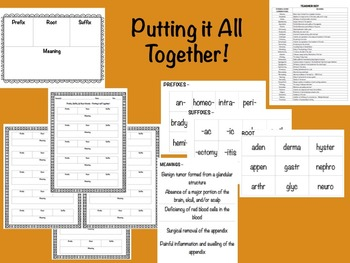 Prefix, Suffix, and Root Word - Putting it All Together Activity