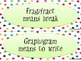Prefix, Suffix, and Roots Games and Practice for Grade 6