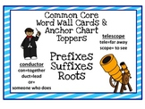 Prefix & Suffix (greek Roots) Word Wall Cards and Anchor Charts
