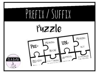 Prefix/Suffix puzzles