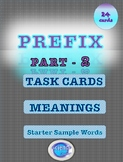 Prefix, Task Card Activity - with Meanings and Sample Starter Words - PART-2