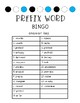 Prefix Task Card Bingo