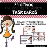 Prefix Task Cards (Digital Google Version Too)