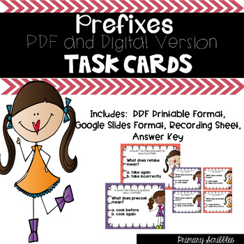 Prefix Task Cards (Digital Google Version Too)
