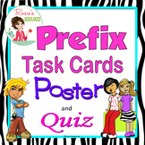 Prefix Task Cards, Poster and Quiz for Upper Elementary