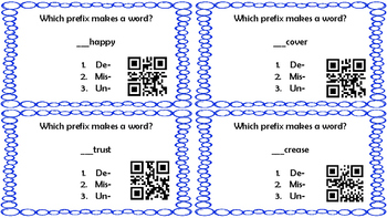 Prefix Task Cards with QR Scans