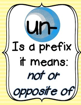 Prefix Un- Activity CCSS