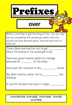 Prefix Unit; activities, worksheets and flashcards