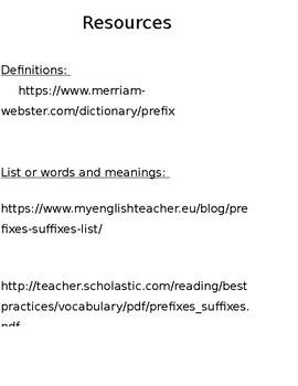 Prefix Wall Cards List (Free)