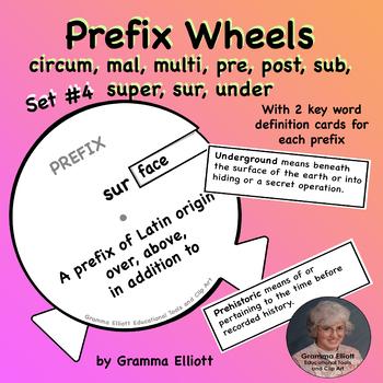 Prefix Activity Wheels Set 4
