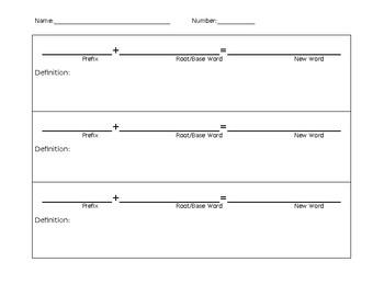 Prefix Word Creations