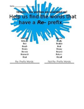 Prefix Word Sort