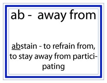 Prefix Word Wall
