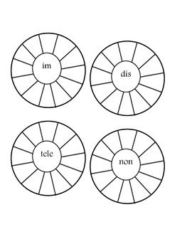 Prefix Word Wheels