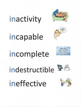 Prefix Word Work #1