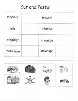 Prefix Word Work #3