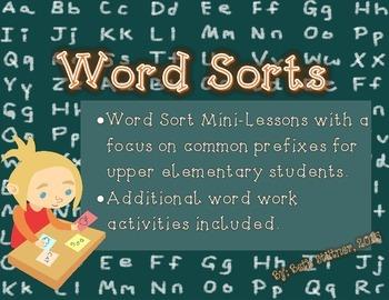 Prefix Word Work Activities
