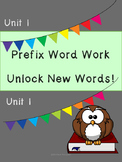Prefix Word Work and Vocabulary Builder Lessons 1-6