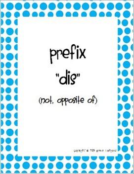 "Prefix Worksheet for ""dis"""