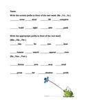 Prefix Worksheet