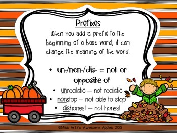 Prefix Worksheets - Grades 4-6