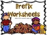 Prefix Worksheets - Grades 4-6