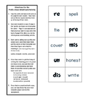 Prefix and Base Word Activity to Determine Word Meanings