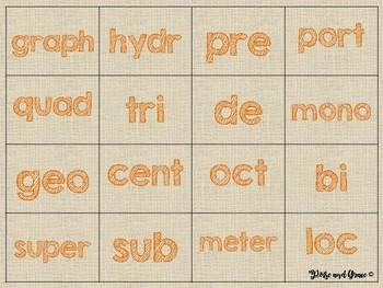 Prefix and Root Bingo