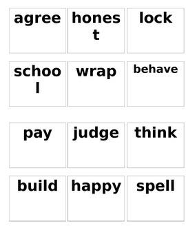 Prefix and Root Word Building Activity