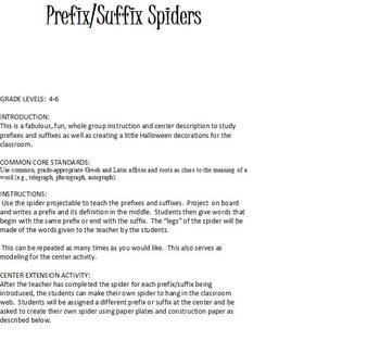 Prefix and Suffix Spiders