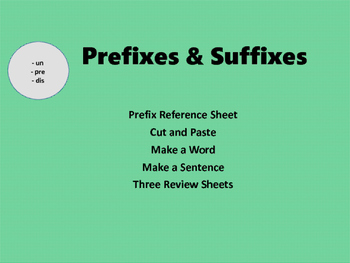 Prefix and Suffix Activities... Common Core...Test Skills
