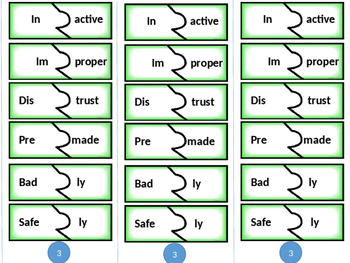 Prefix and Suffix Activity